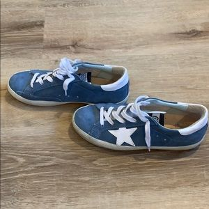 Golden goose brand sneakers. Size 35. blue suede
